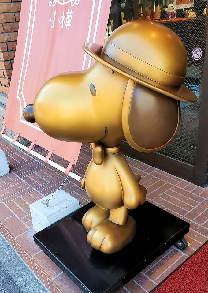 小樽の街を散策している時に見えたスヌーピーのお店