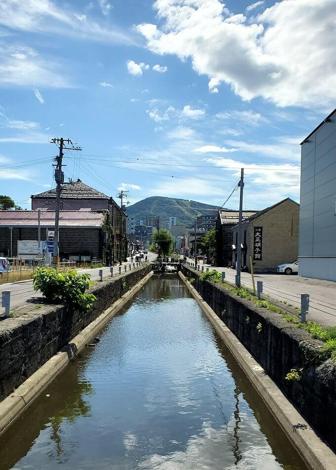 小樽の街を流れる運河