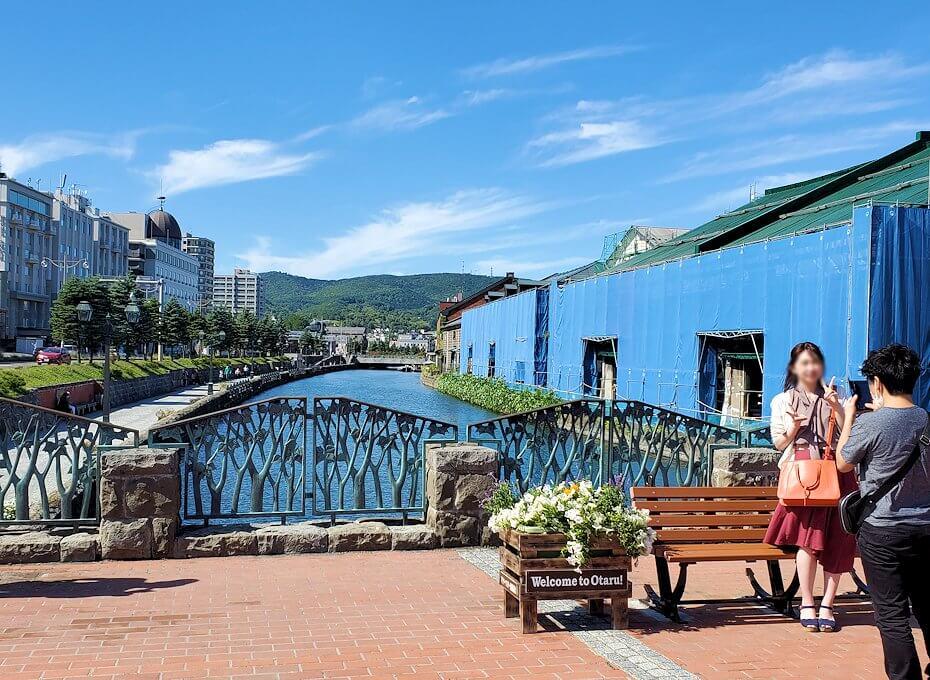 小樽運河が一望できる場所