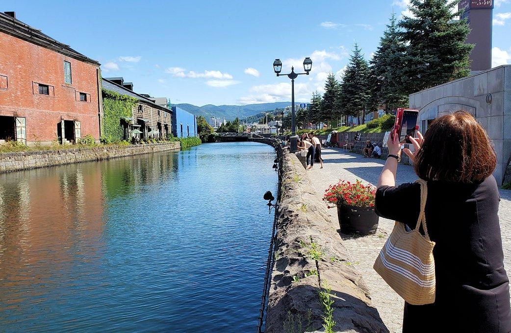 小樽運河沿いの景色