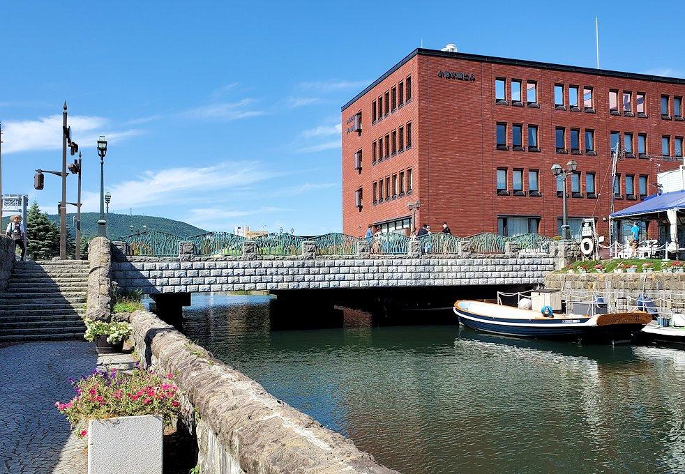 小樽運河を遊覧する船の発着場1