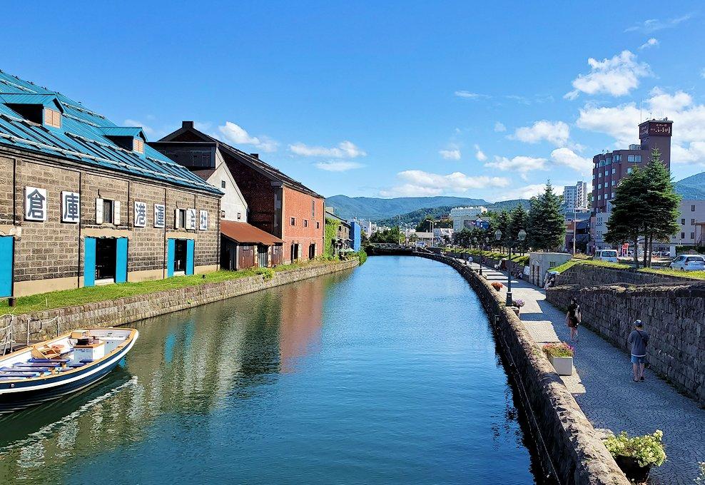 小樽運河がよく見える橋からの景観1