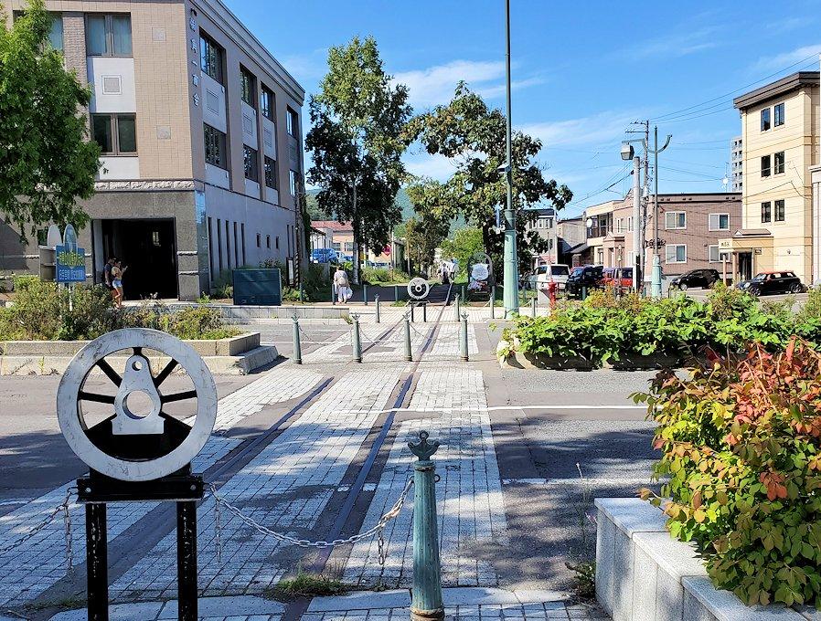 小樽の街にあった、旧手宮線の線路跡