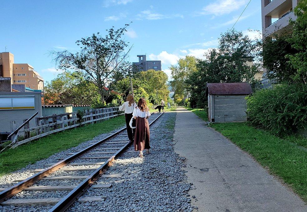 小樽の街にあった、旧手宮線の線路跡2