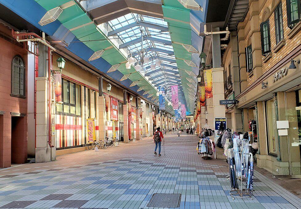 小樽の街のアーケード街