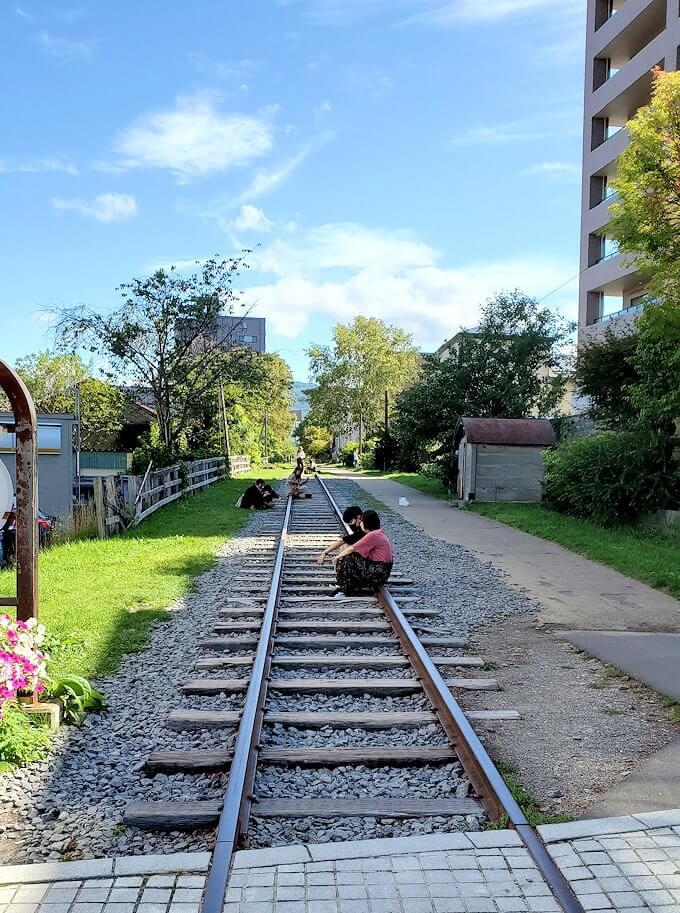 小樽の街にある、廃線となってしまった旧手宮線跡