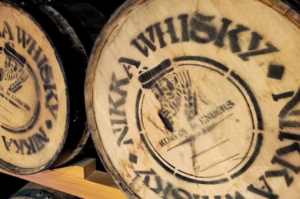 余市町のウイスキー博物館内