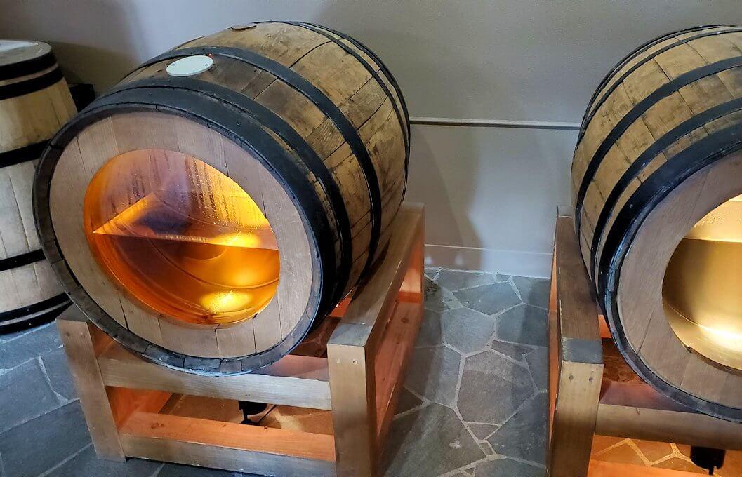 余市町のウイスキー博物館内にあった、エンジェルズシェアの見本2