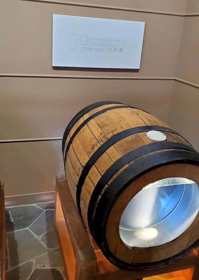 余市町のウイスキー博物館内にあった、エンジェルズシェアの見本4