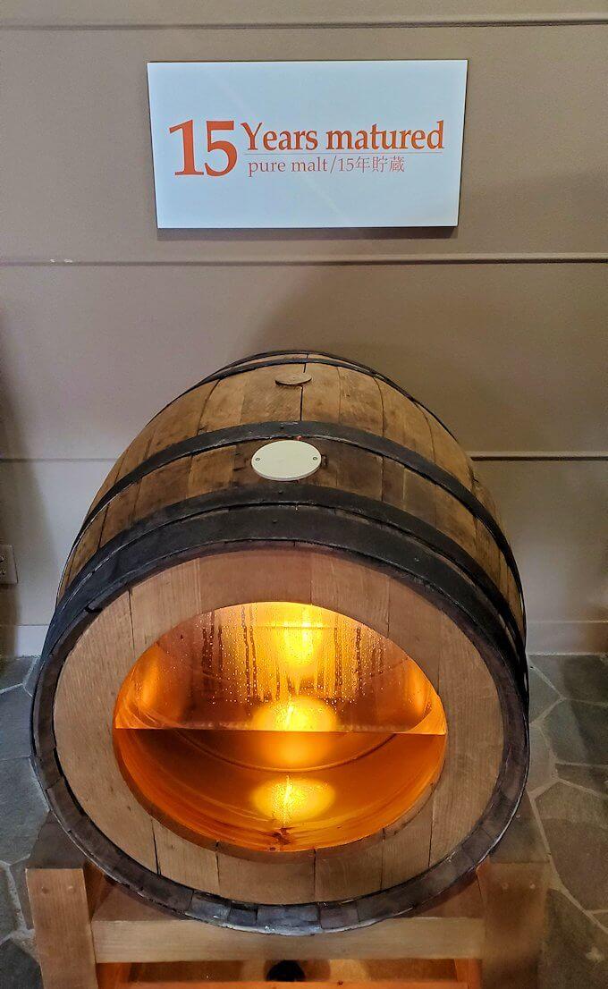 余市町のウイスキー博物館内にあった、エンジェルズシェアの見本6