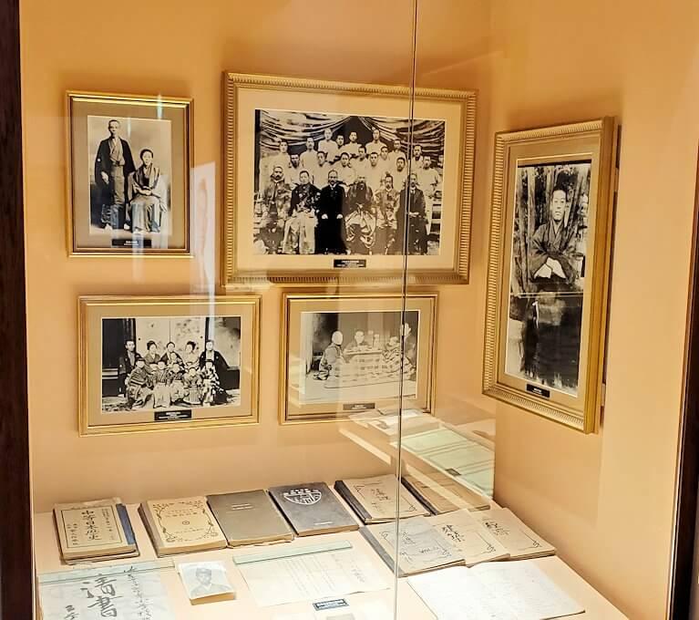 ウイスキー博物館に展示されている竹鶴政孝氏関連の品々