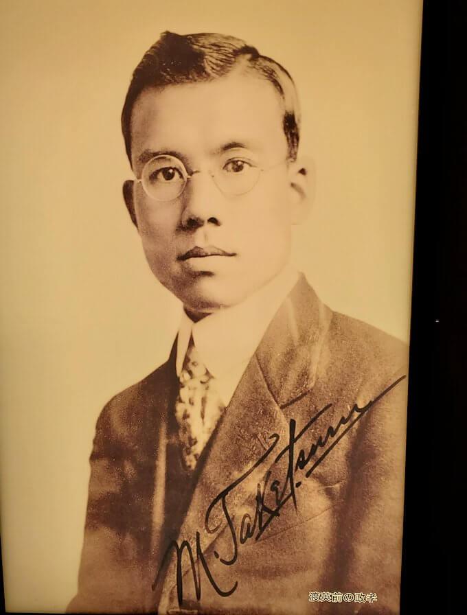 ウイスキー博物館に展示されている竹鶴政孝氏の写真