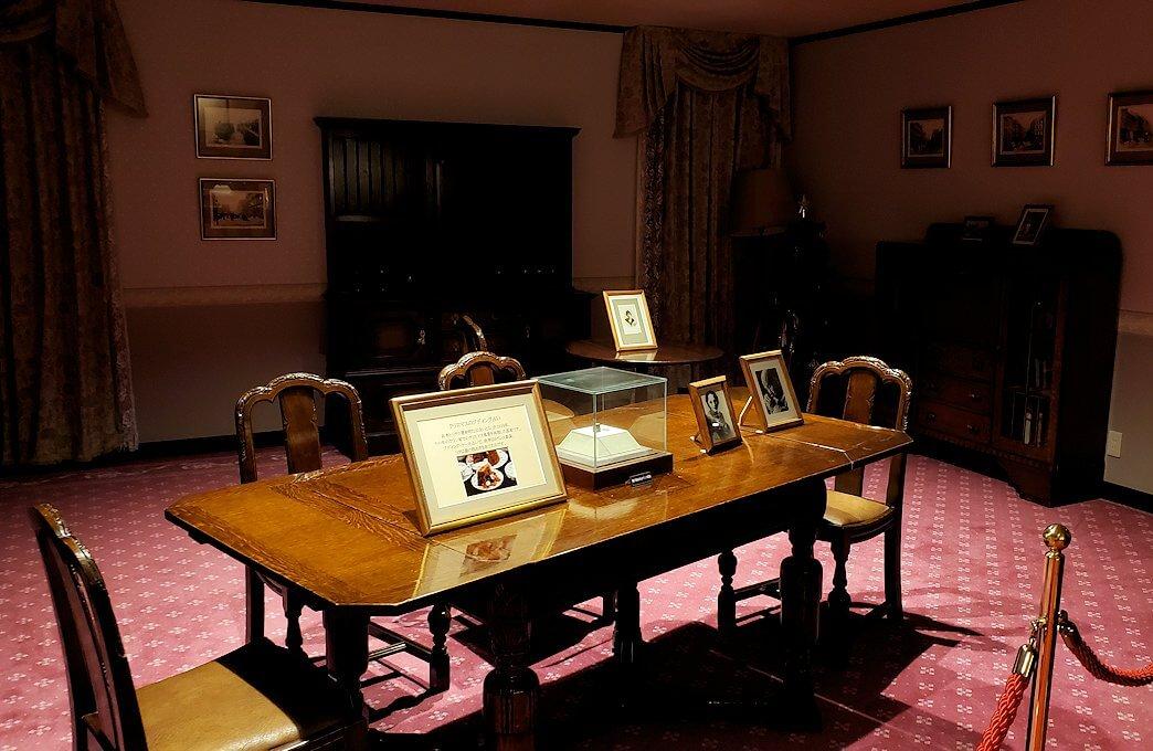 ウイスキー博物館に展示されている竹鶴政孝氏が使っていた机