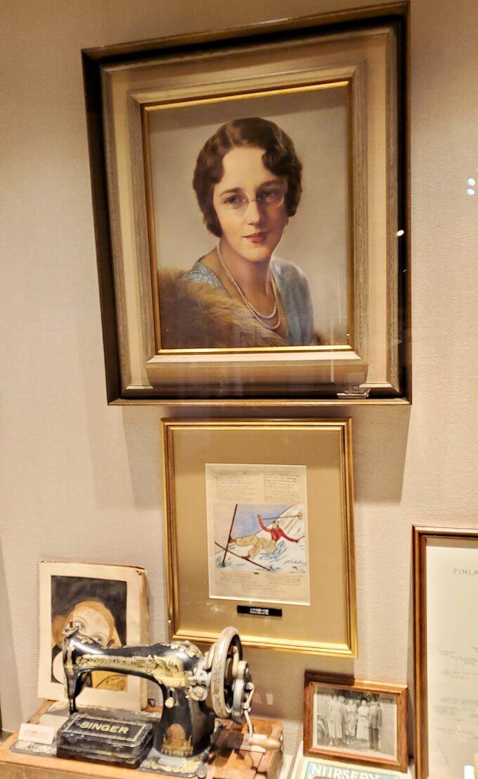 ウイスキー博物館内にある、竹鶴夫妻愛用の品1
