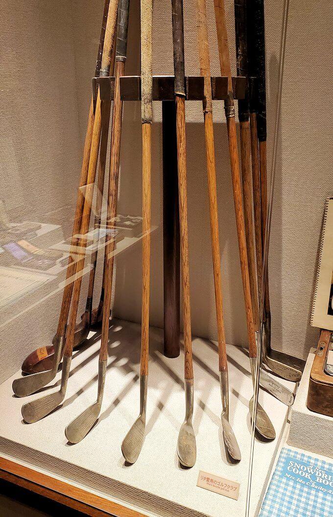 ウイスキー博物館内にある、竹鶴夫妻愛用の品2
