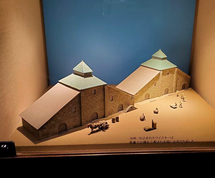ウイスキー博物館内にある、昔のニッカウヰスキー施設模型