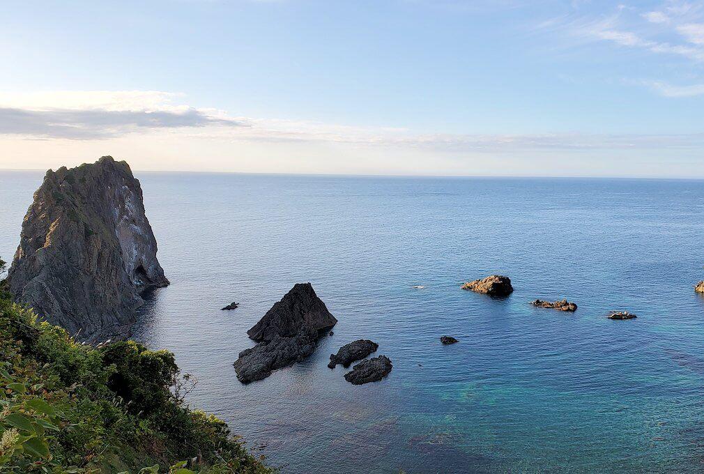 積丹半島の北端にある「島武意海岸」の景色