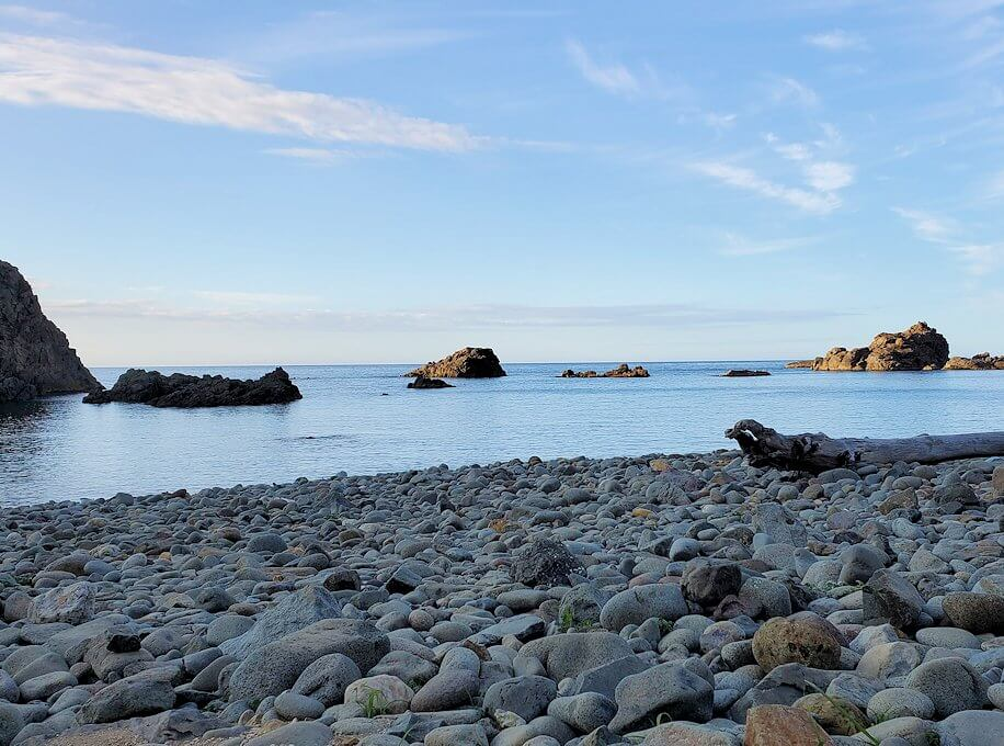 積丹半島の北端にある「島武意海岸」下の景色1