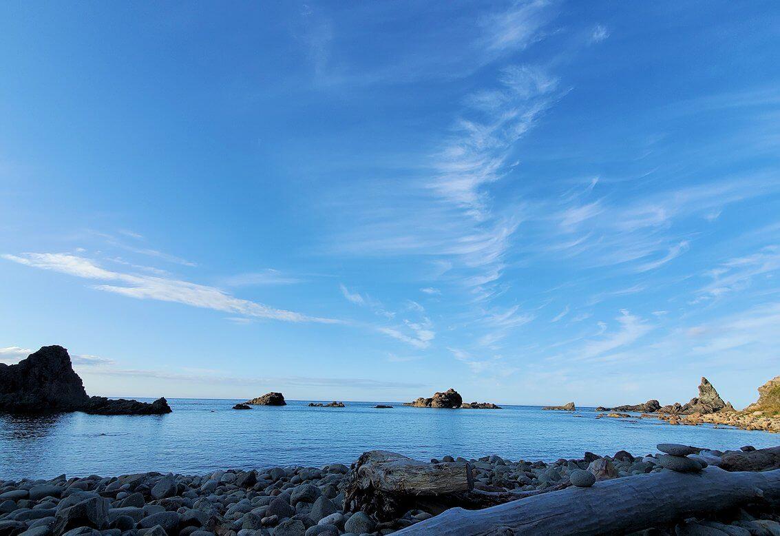 積丹半島の北端にある「島武意海岸」下の景色3