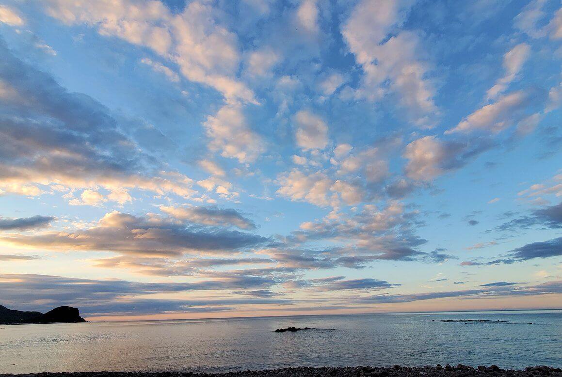 積丹半島の海岸の景色