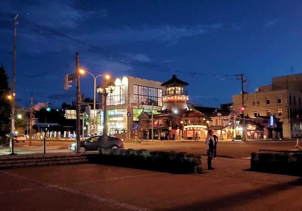 夜の小樽の街の景色2