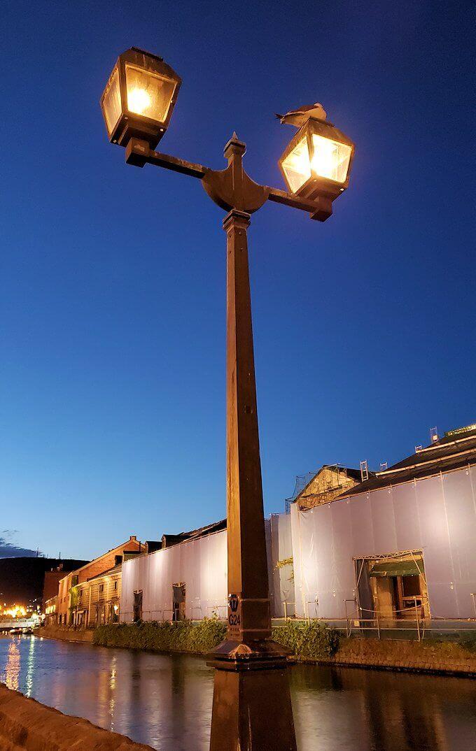 夜の小樽の街の景色4