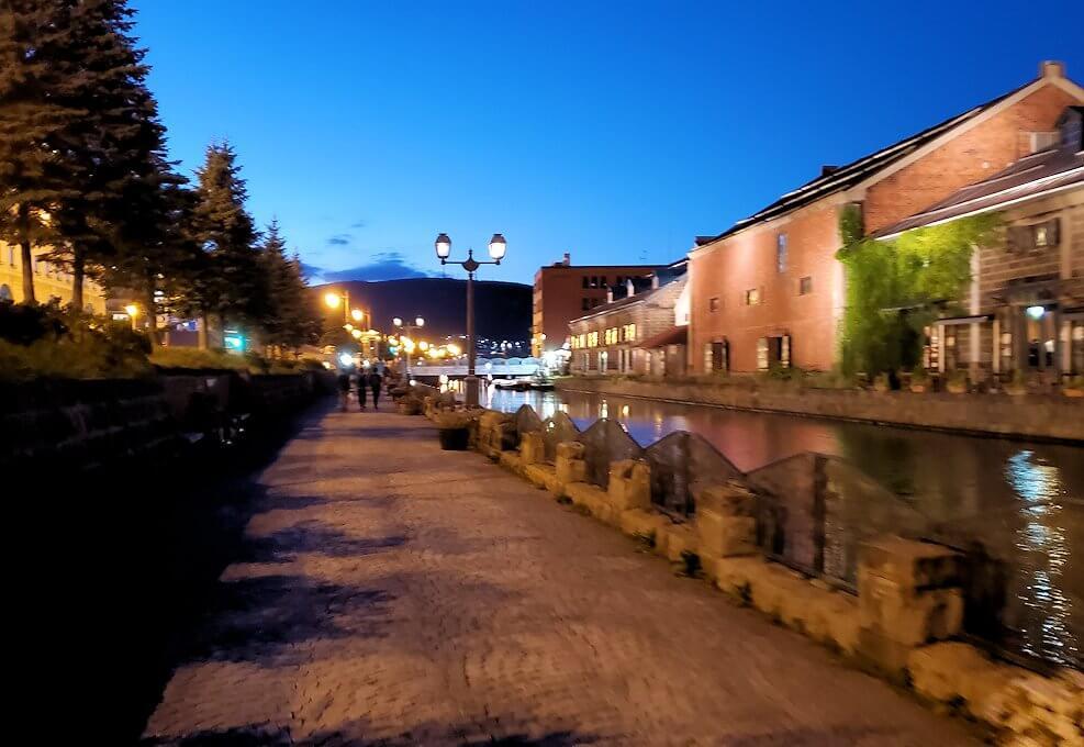 夜の小樽の街の景色6