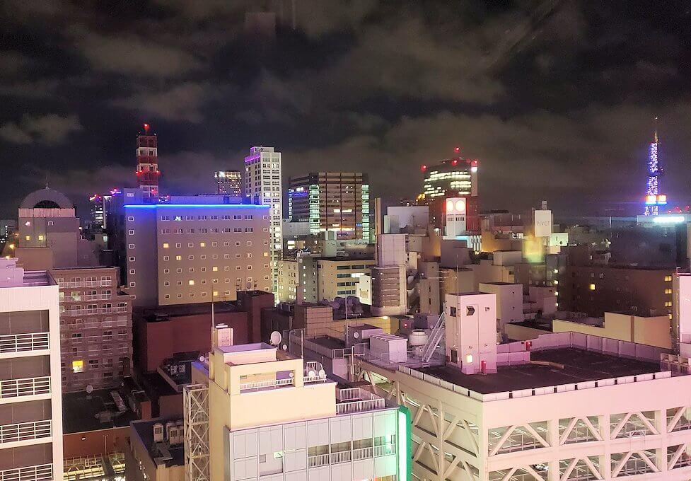 札幌市内にあるノルベサという商業施設にある観覧車に乗り込で見える景色