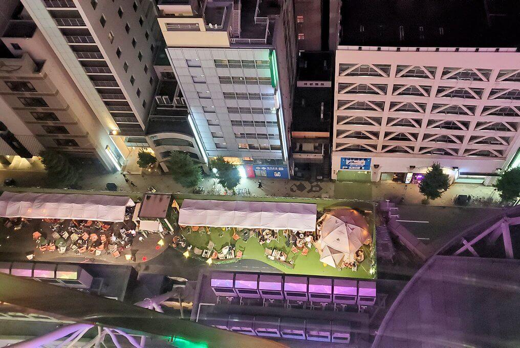 札幌市内にあるノルベサという商業施設にある観覧車に乗り込で見える景色5