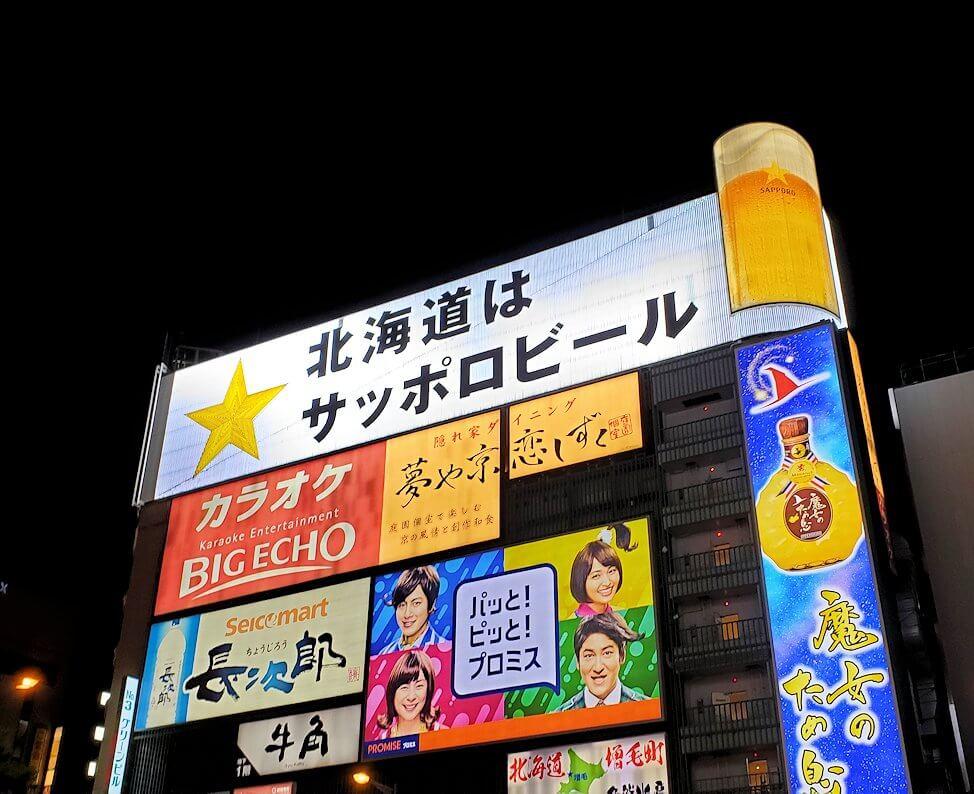 札幌繁華街のススキノの街並み1