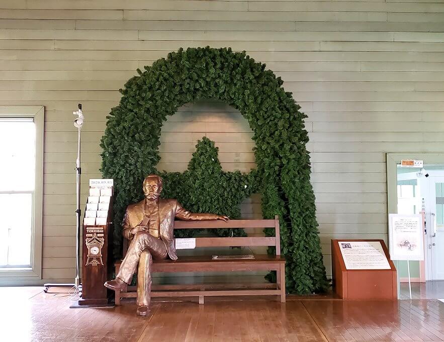 札幌時計台の2階に鎮座するクラーク像