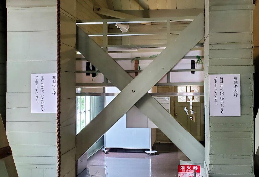 札幌時計台の重り