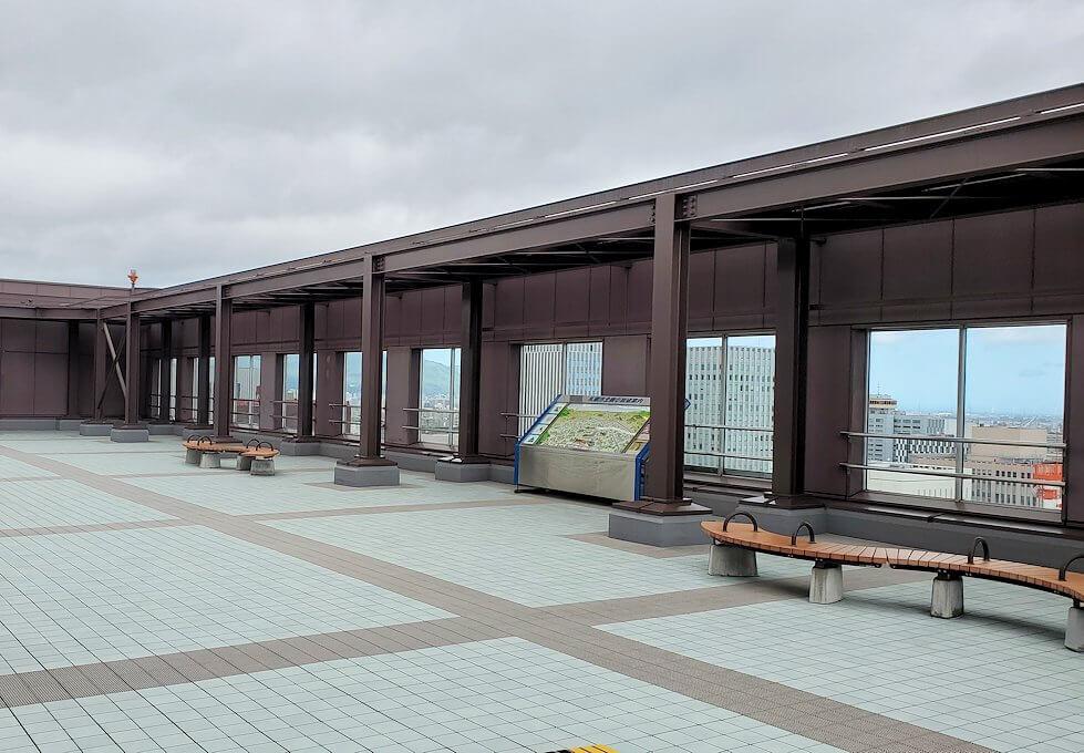 札幌市役所の展望台にて