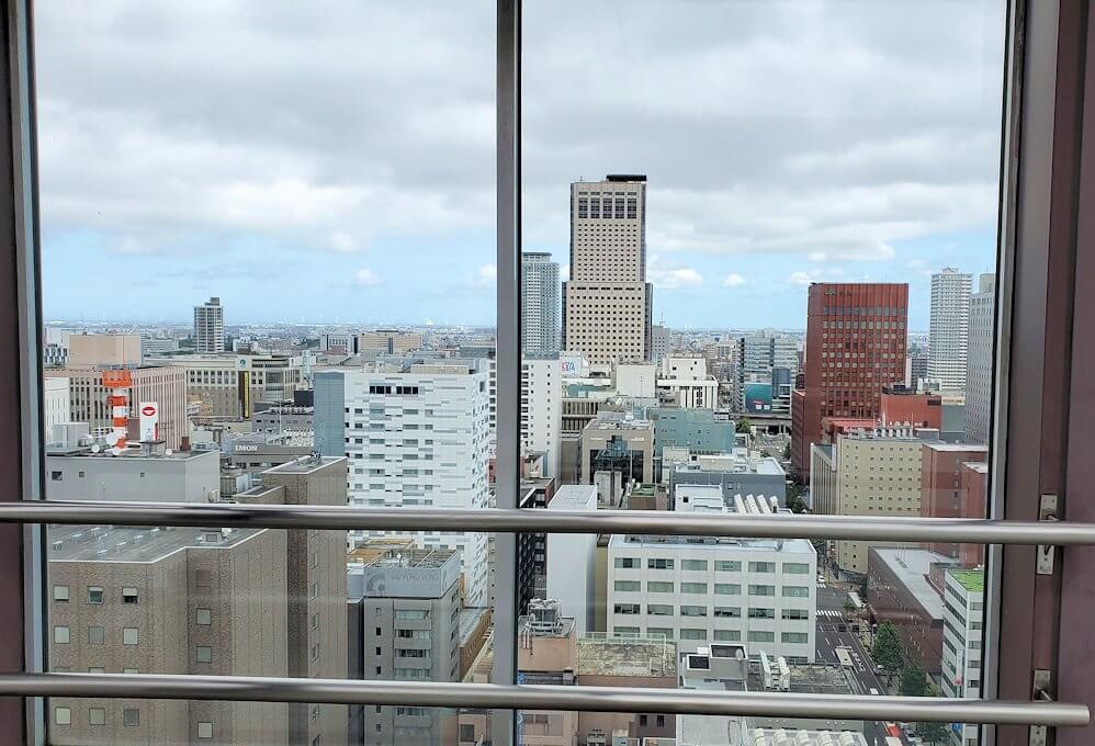 札幌市役所の展望台にて1