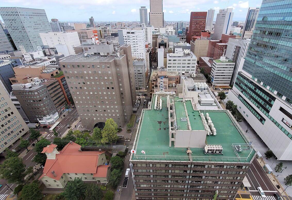 札幌市役所の展望台にて3