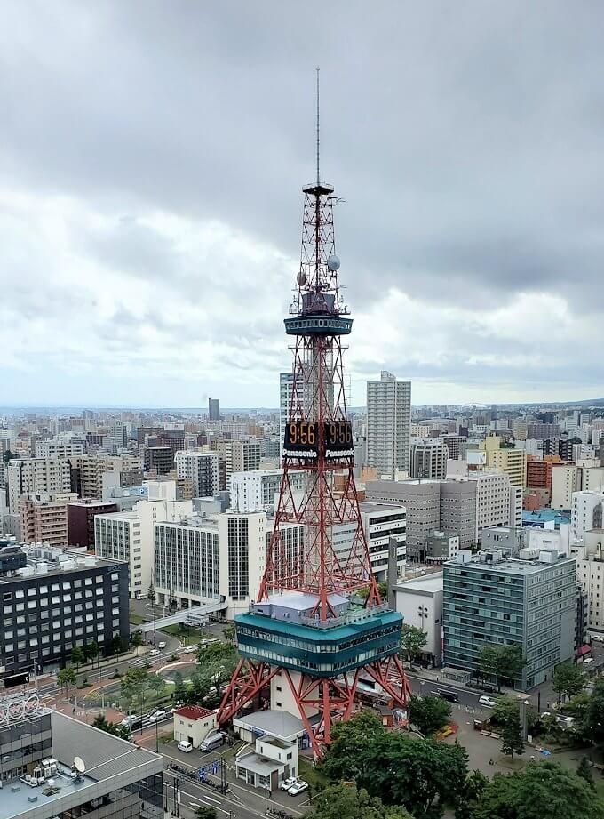 札幌市役所の展望台から眺める1