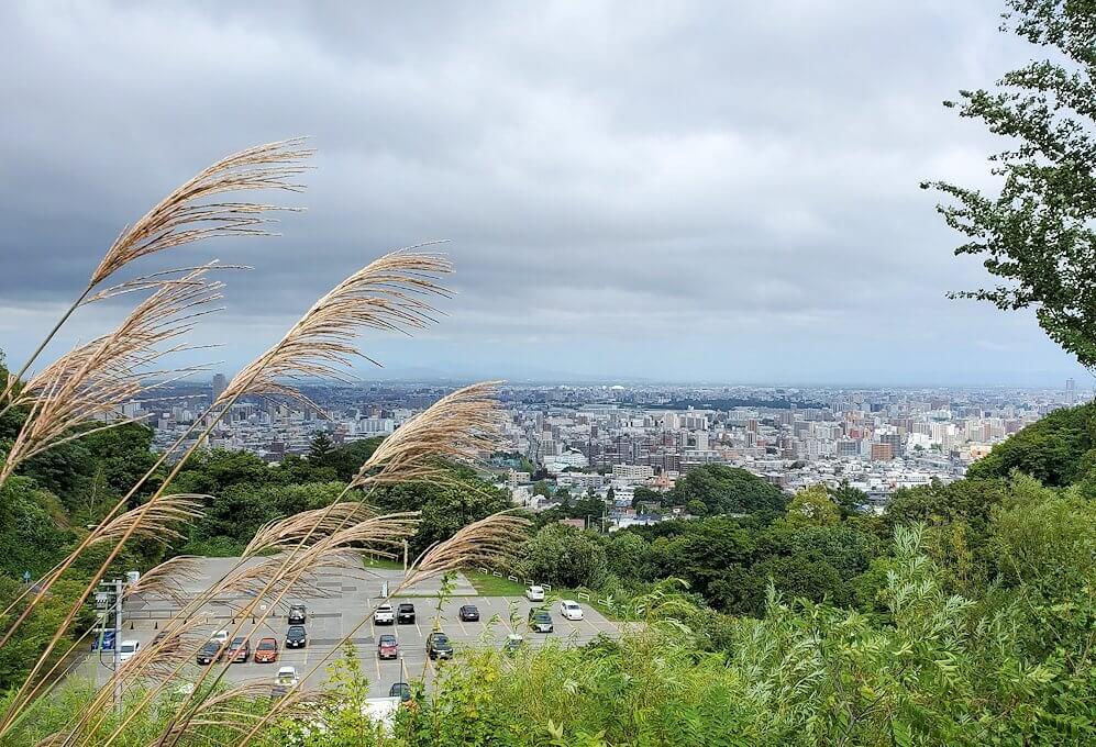 大倉山駐車場から、大倉山ジャンプ競技場からの景色1