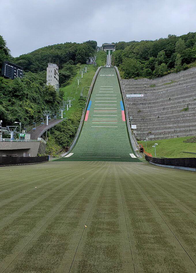 大倉山ジャンプ競技場のコース