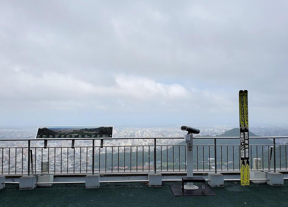 大倉山ジャンプ競技場の頂上の景色
