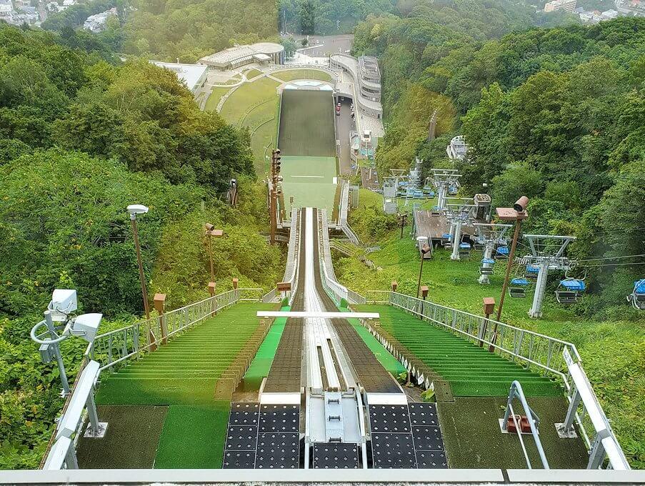大倉山ジャンプ競技場の頂上の景色からの景色