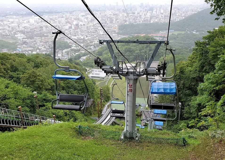 大倉山ジャンプ競技場の頂上から降りる