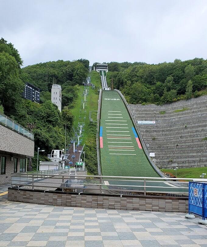 大倉山ジャンプ競技場にて