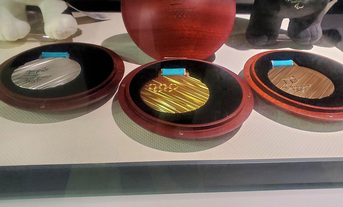 大倉山にあるオリンピックミュージアムに展示されているメダル