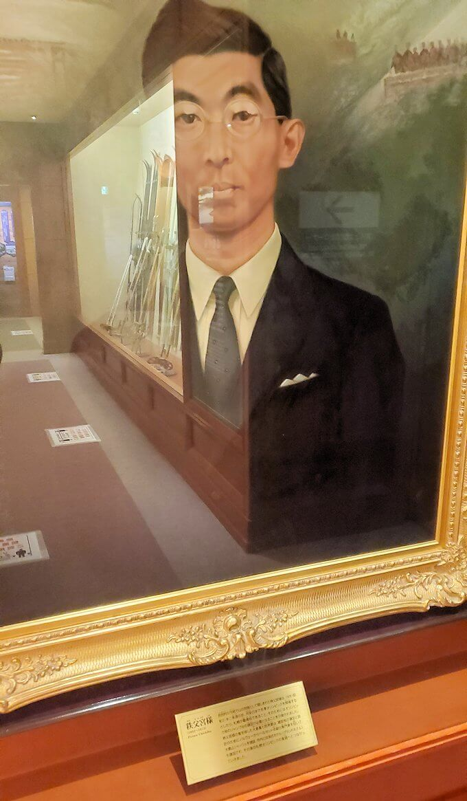 大倉山にあるオリンピックミュージアムに展示されている、秩父宮様の肖像画