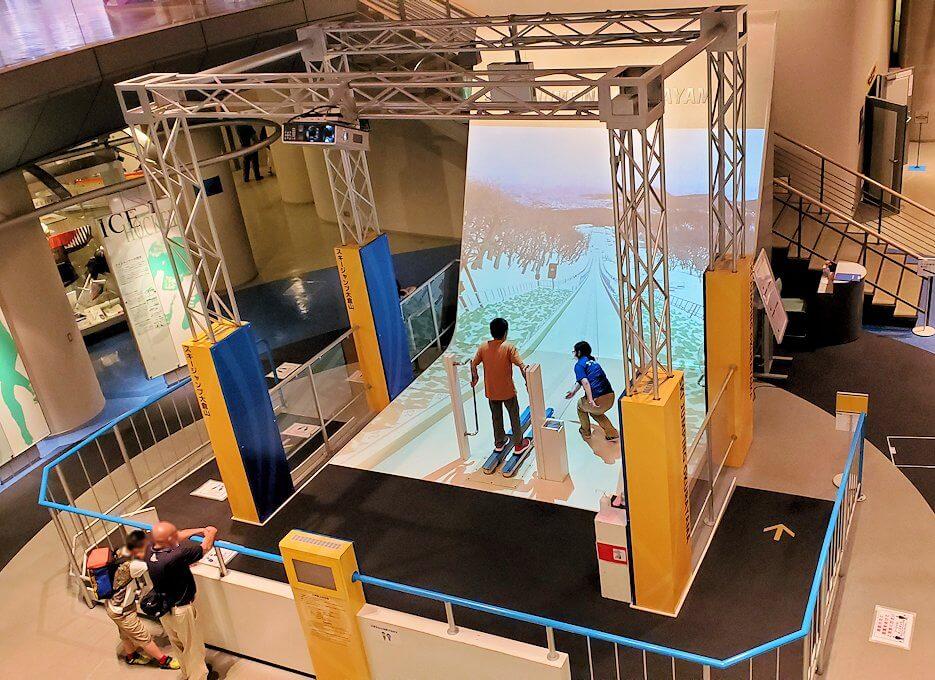 札幌オリンピックミュージアムの体験コーナー