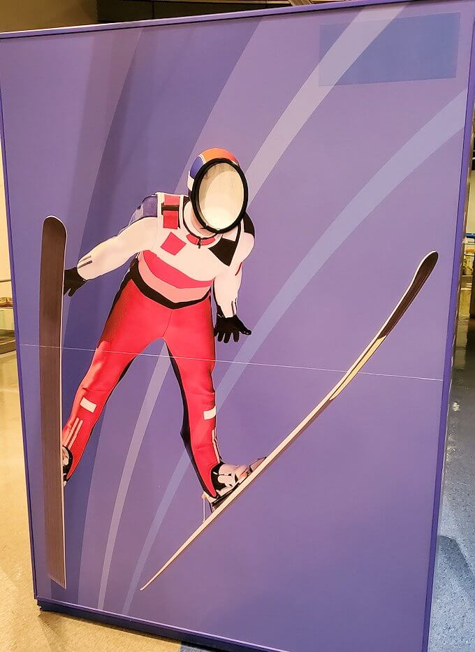 札幌オリンピックミュージアムの体験コーナーのパネル