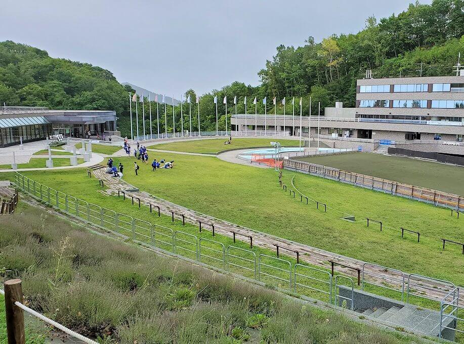 大倉山ジャンプ競技場の途中から眺める景色