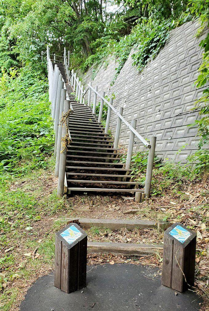 大倉山ジャンプ台を登る道を進む