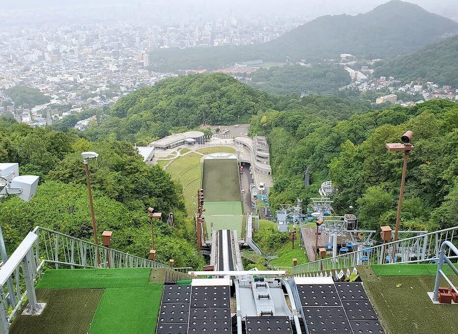 大倉山ジャンプ台から再び眺める札幌の景色
