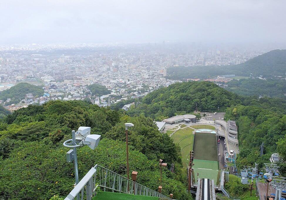 大倉山ジャンプ台から再び眺める札幌の景色1